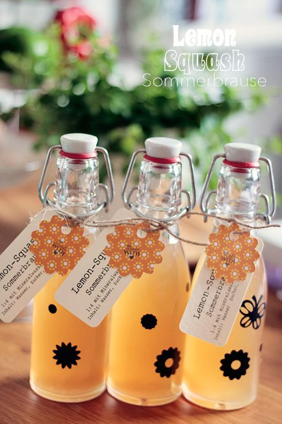 Zitronenbrause - Lemon Squash